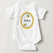 Sweet Bumble Bee Personalized Baby T-Shirt