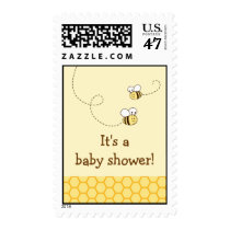Sweet Bumble Bee Personalized Postage Stamps