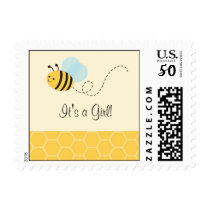 Sweet Bumble Bee Postage Stamps