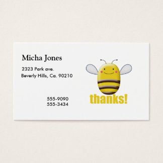 Sweet Bumble Bee Says Thanks Business Card