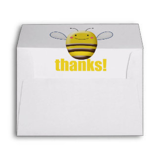 Sweet Bumble Bee Says Thanks Envelope