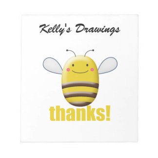Sweet Bumble Bee Says Thanks Notepad