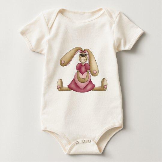 Sweet Bunnies · Bunny & Heart Baby Bodysuit