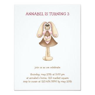 Sweet Bunnies · Bunny & Heart 4.25x5.5 Paper Invitation Card
