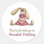 Sweet Bunnies · Bunny & Heart Classic Round Sticker
