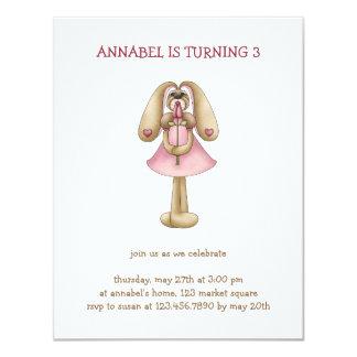 Sweet Bunnies · Bunny & Rose 4.25x5.5 Paper Invitation Card