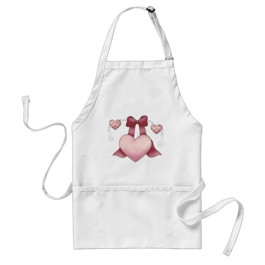 Sweet Bunnies · Hearts & Bow Adult Apron