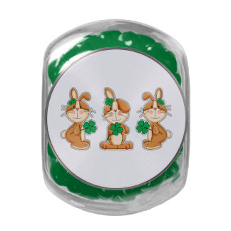 Sweet Bunnies St. Patrick's Day Candy Tins