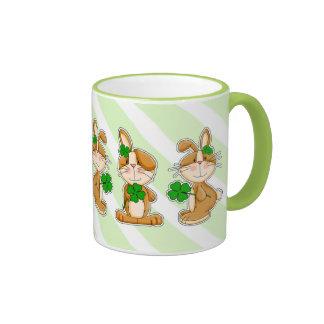 Sweet Bunnies St. Patrick's Day Fun Mugs