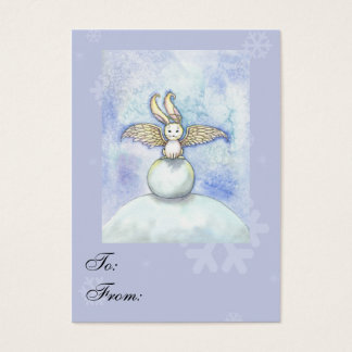 Sweet Bunny Angel Holiday Gift Tags