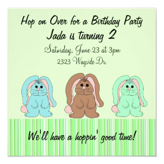 Sweet Bunny Birthday Invitation