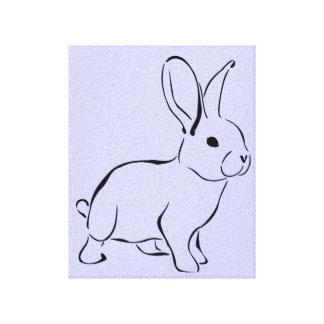 Sweet Bunny Cartoon Adorable Rabbit Canvas Print