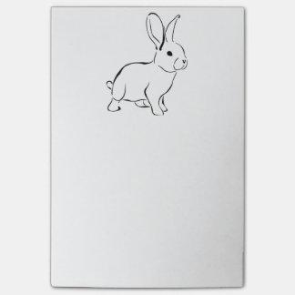 Sweet Bunny Cartoon Adorable Rabbit Post-it Notes