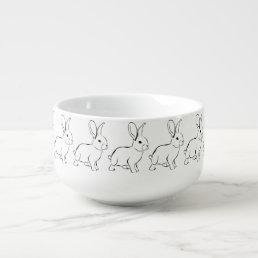 Sweet Bunny Cartoon Adorable Rabbit Soup Mug