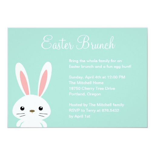 Sweet Bunny Easter Party Invitation Personalized Invitations