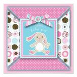 Sweet Bunny Invitation Square