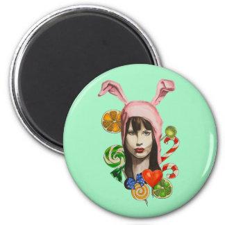 sweet bunny magnet