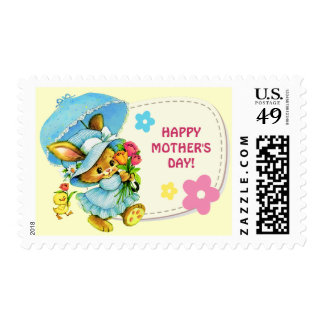 Sweet Bunny. Mother's Day Postage Stamps