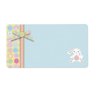 Sweet Bunny Name Tag B Shipping Labels