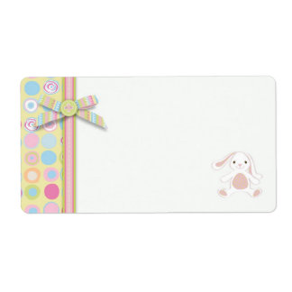Sweet Bunny Name Tag Personalized Shipping Label