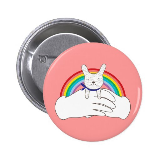Sweet Bunny Pinback Button