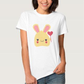 Sweet Bunny Rabbit Face Holding a Heart on a Stick T-shirt