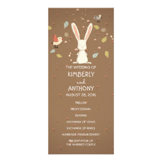 sweet bunny rabbit wedding programs