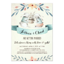 Sweet Bunny Rabbits Couples Shower Invitation