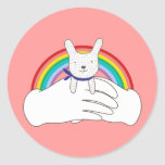 Sweet Bunny Round Stickers