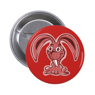 sweet bunny sitting on the ground funny cartoon pinback button