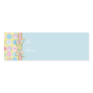 Sweet Bunny Skinny Gift Tag 2 Business Card Template