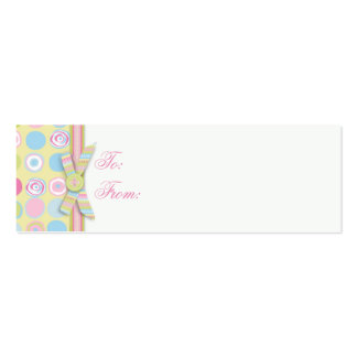 Sweet Bunny Skinny Gift Tag 2B Business Cards