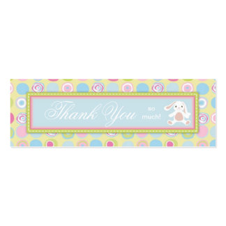 Sweet Bunny Skinny Gift Tag 3 Business Cards