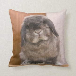 Sweet bunny stare (cushion) throw pillow