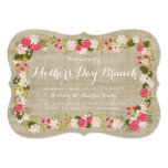 "Sweet Burlap Floral Mother's Day Brunch Invitation 5"" X 7"" Invitation Card"