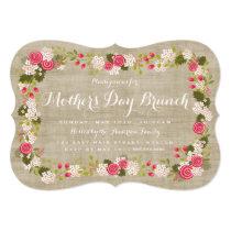 Sweet Burlap Floral Mother's Day Brunch Invitation