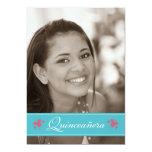 Sweet Butterflies Quinceanera Invitation (aqua)