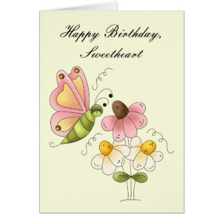 Sweet Butterfly Daughter Birthday Card