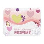 Sweet butterfly hearts world's greatest mommy vinyl magnet