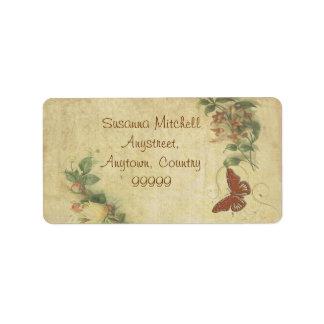 Sweet Butterfly Address Label