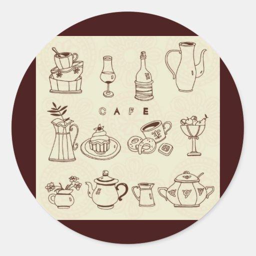 Sweet-Cake1 Round Sticker