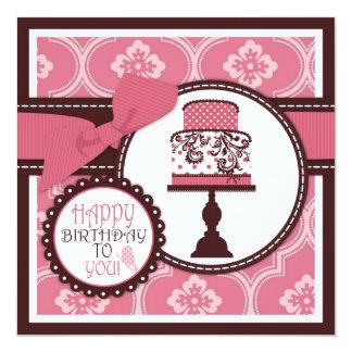 Sweet Cake Birthday Custom Invites