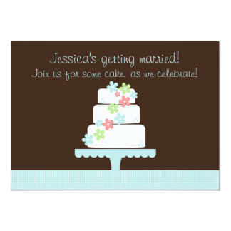 Sweet Cake Bridal Shower Invitation