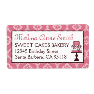 Sweet Cake Business Shipping Label