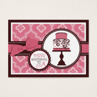 Sweet Cake Gift Tag Large Business Card