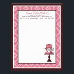 "Sweet Cake Letterhead<br><div class=""desc"">Elegant cake with damask print.</div>"