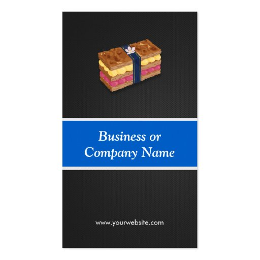 Sweet Cake Millefeuille Mille-feuille Pie Business Card (back side)