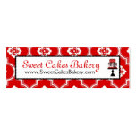Sweet Cake Skinny Business Card Red