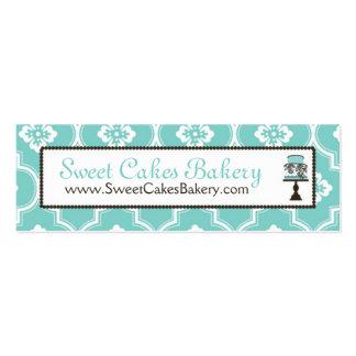 Sweet Cake Skinny Business Card Turq