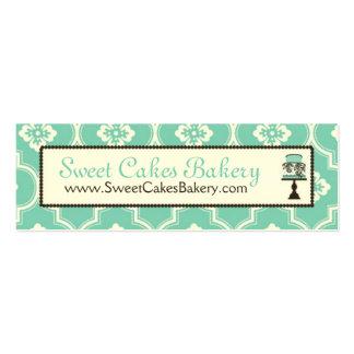 Sweet Cake Skinny Business Card Turq CR